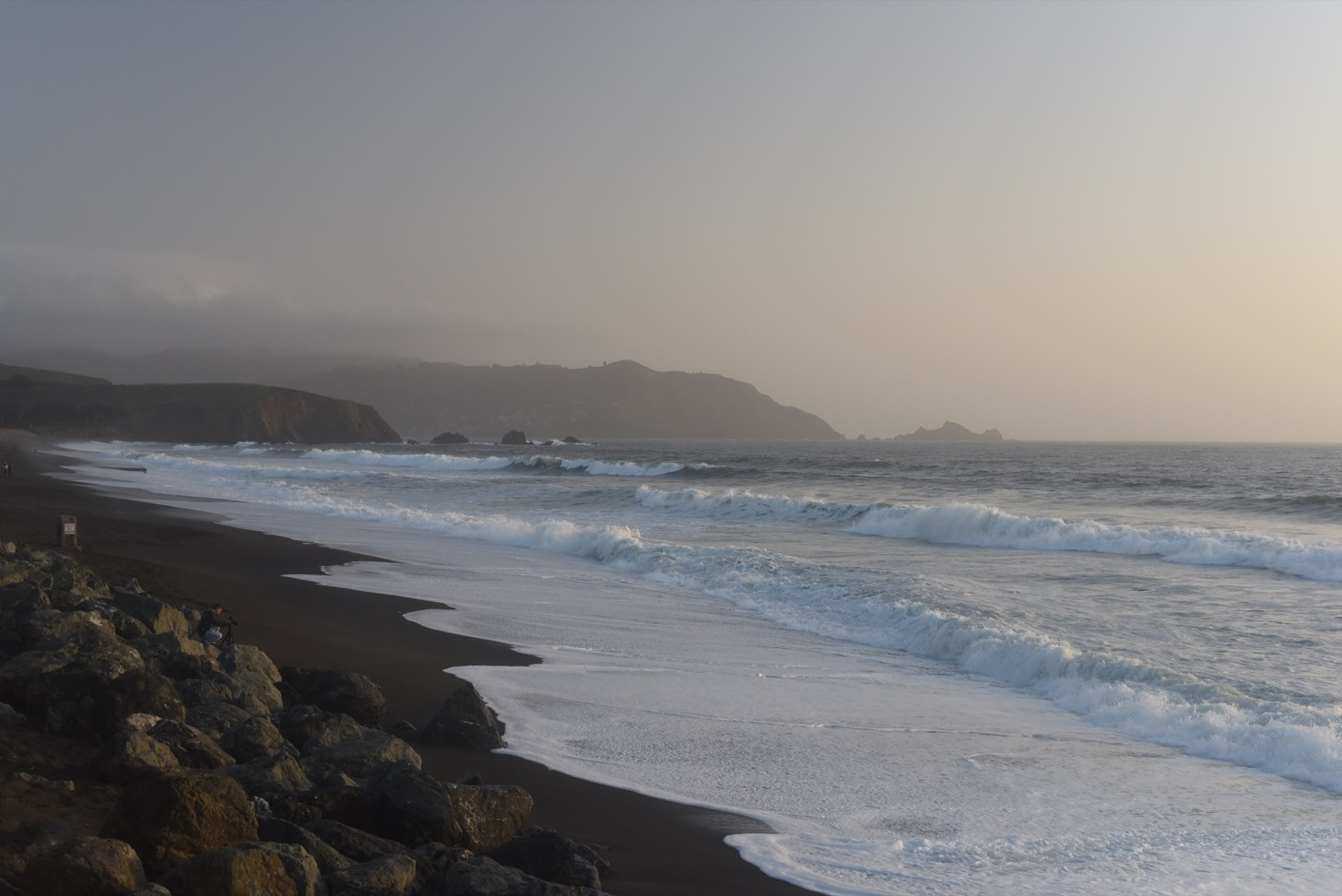 The shore near Pacifica Municipal Pier.
