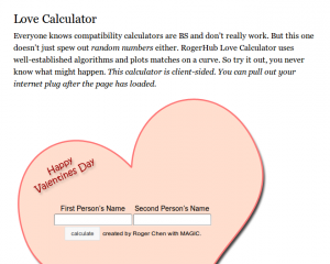 Love Calculator Preview