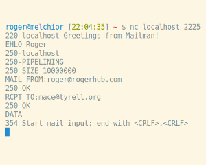 Mailman Go SMTP Server Preview