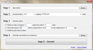 A screenshot of my audio/video converter.
