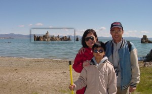 Parents and me at Mono Lake.