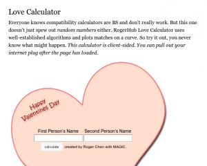 Love Calculator Preview