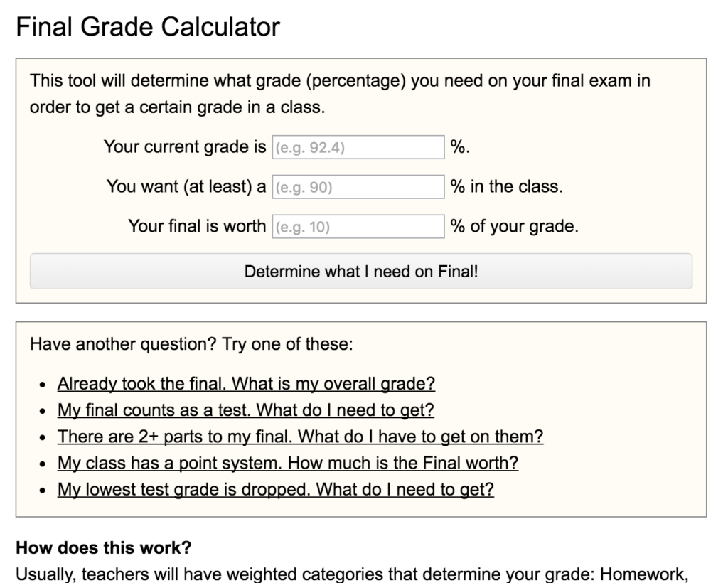 Calculator homework help